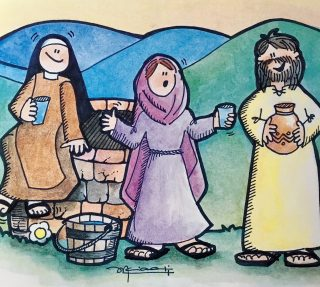 La Samaritana en el pozo