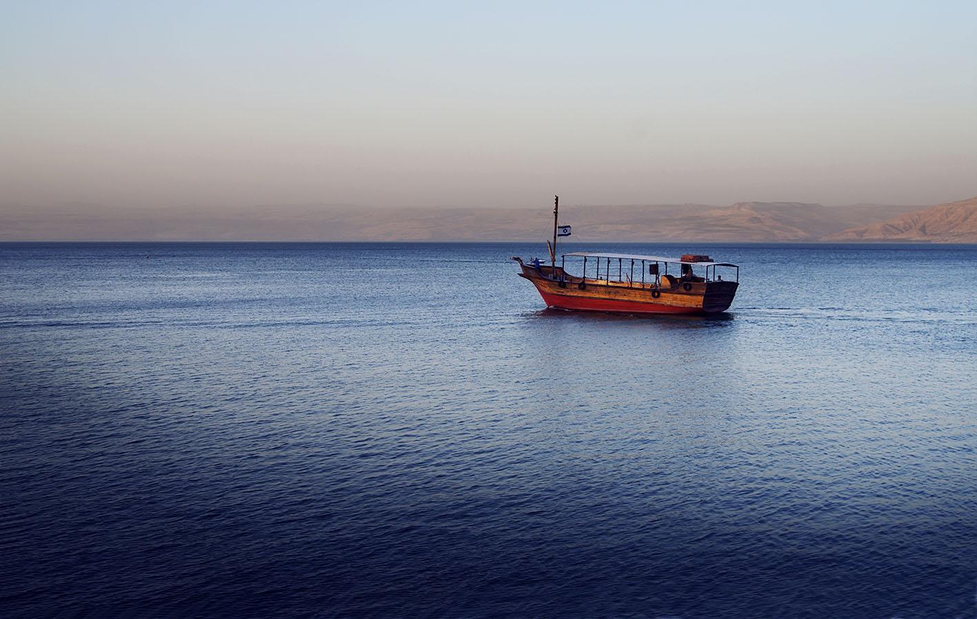 Barca en el Lago de Galilea