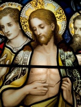 Jesús resucitado muestra sus heridas