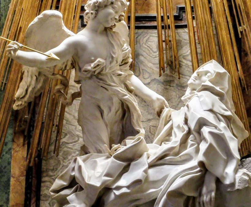 Escultura de la transverberación de santa Teresa