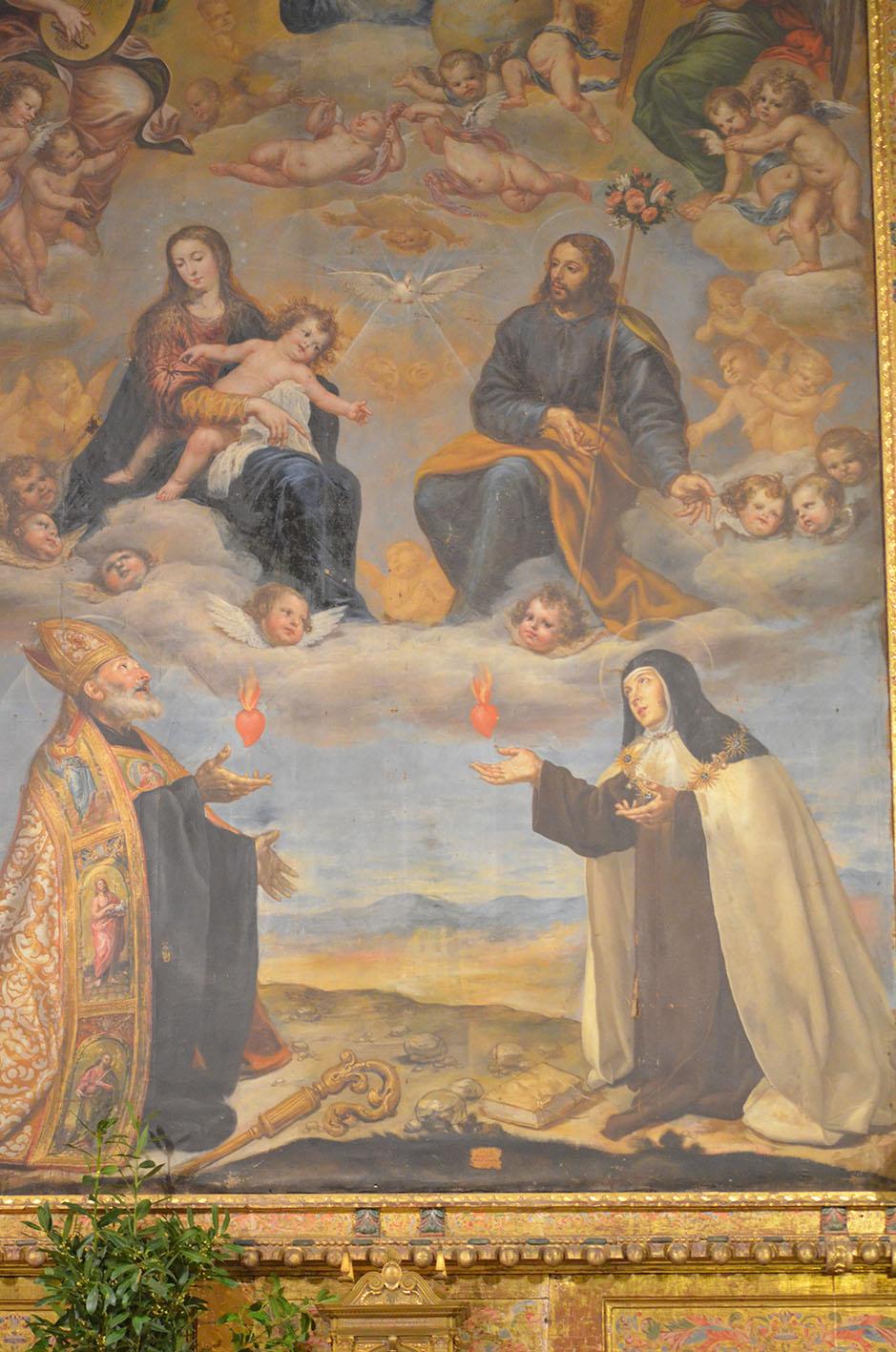 santa teresa y san agustín