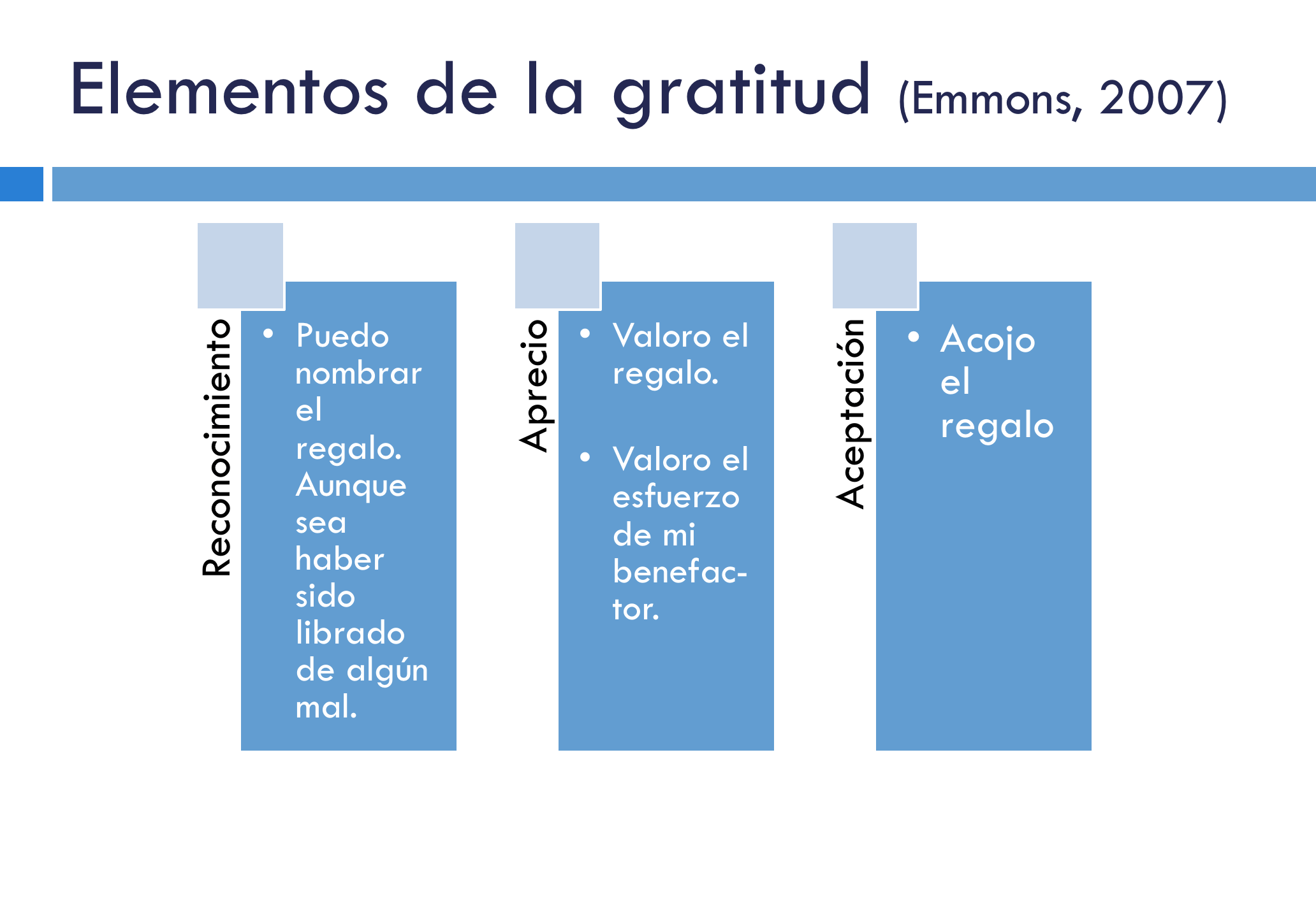 elementos de la gratitud